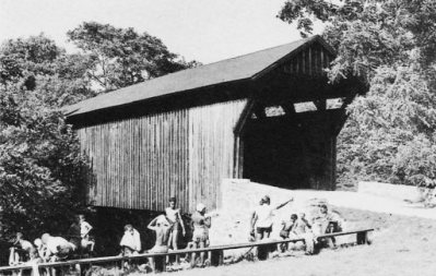 Bunker Hill Covered Bridge 1948