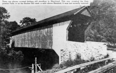 Bunker Hill Covered Bridge 1951