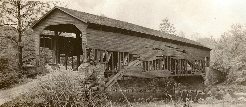 Parks Rolling Mill Covered Bridge 1938