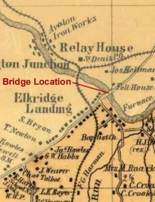 Patapsco Bridge Crossing at Elkridge Landing 1850