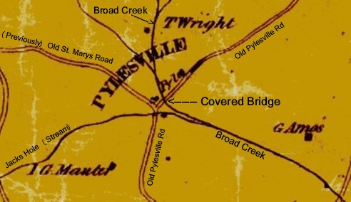 Location of Pylesville Covered Bridge