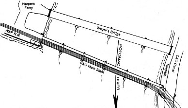 Wager's Bridge & B&O Bridge Alignment